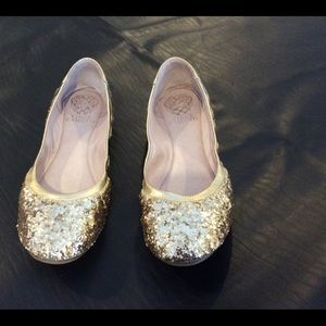 Vince Camuto Sparkly Gold flats